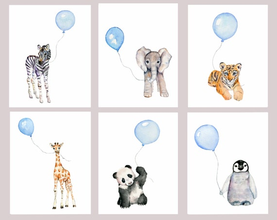 baby boy nursery art prints set of 6 pastel blue nursery. Black Bedroom Furniture Sets. Home Design Ideas