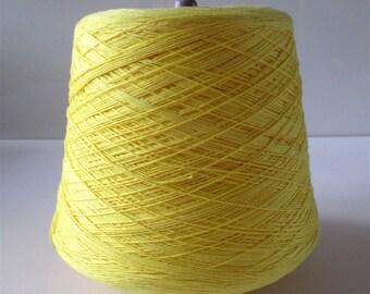 3/10's pale yellow mercerised cotton