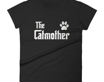 Women's The CatMother t-shirt - Cat lover gift for mom, Cat Mom shirt for cat Lover, gift for cat owners