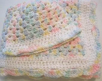 Crochet, Baby Blanket, Newborn, Baby Girl, Baby Boy, Soft Pastel Colors, Baby Afghan, Baby Shower Gift