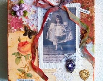 Angel Collage Art Work - Memory of an Angel