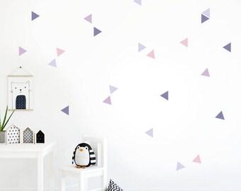 Nordic triangles Lavanda combination Wall Decal Sticker