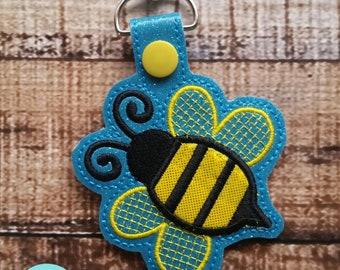 Bumblebee with Sky Background Snaptab, Keyfob, Zipperpull