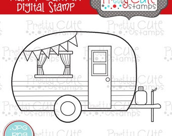 Happy Camper DIGITAL Stamp Set