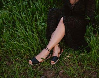 Black Gladiator Sandals, Leather Gladiators, Flat Gladiator Sandals, Black Women Sandals, Leather Sandals, Lace Up Sandals, Tie Up Sandals