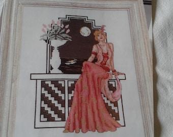 Art Deco - MOONLIGHT SERENADE - Cross Stitch Pattern Only