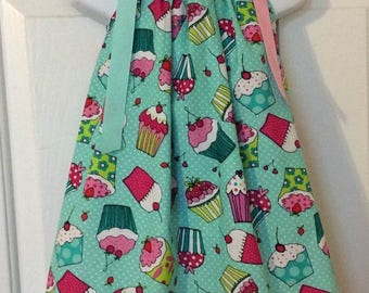Green Cupcake Pillowcase Dress Size 2T