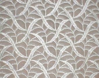 Vintage ivory Venise Lace Fabric