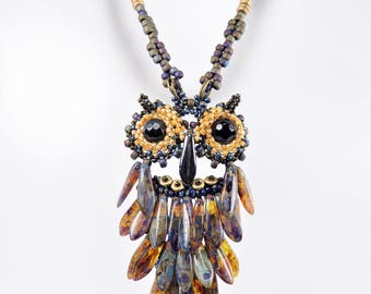 Owl Capone Necklace Tutorial Instant Download