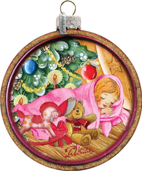 Baby Girl Christening Favors Glass Ornament: Baby's Girls First Christmas C-Ball Ornament Glass