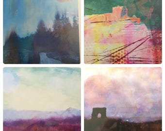 Landscapes: pack of four greetings cards