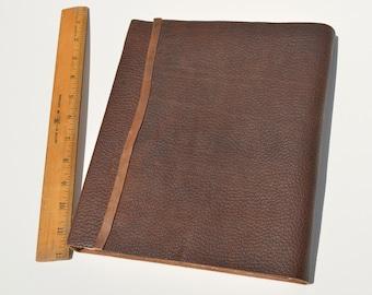 Large Bound Leather Planner Journal Handmade Notebook Copper Monogram (452C)