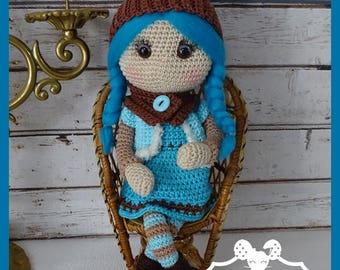 Crochet Amigurumi doll, Tiphaine