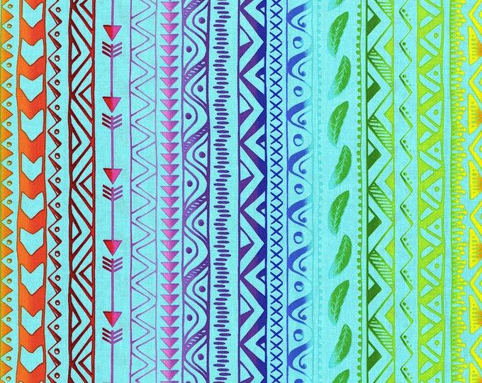 Pow Wow Wow by RJR - Stripe Bright Cyan - Cotton Woven Fabric