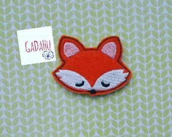 Cute Fox feltie. Embroidery Design 4x4 hoop Instant Download. Felties. Animal feltie