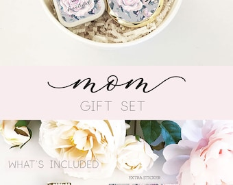 Mothers Day Gift Ideas Mothers Day Gift Set - Mothers Day Candle Gift Set - Mothers Day From Daughter  (EB3250RSGMOM) Mom GIFT SET