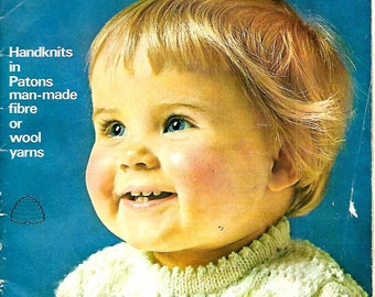 PATONS EASYCARE Book SC119 Original 1960's Baby Vintage Knitting Pattern Book