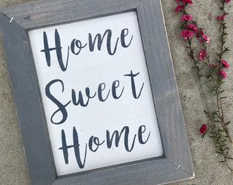 Home sweet home sign, wooden sign, sign