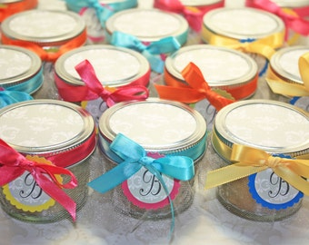 Pie in the jar Favor  - 24 Pie in the jar favors - Bridal or Baby Shower Favors