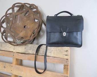 Vintage Coach Black Leather Crossbody Bag No. G050-9927 Handbag