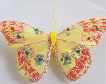 Butterfly Hair Clip SOLD INDIVIDUALLY Yellow butterfly Gift For Her Butterfly Accessory handmade hair clip by Ziporgiabella
