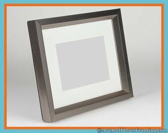 16x20 Picture Frame 16x20 Pewter Picture Frame Pewter Photo Frame 16x20 Photo Frame 16 x 20 Picture Frames with 11x14 Mat Custom Frame 20x16