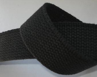 "Cotton Webbing 1 1/4"" Black For Key Fobs Handbags Belts"