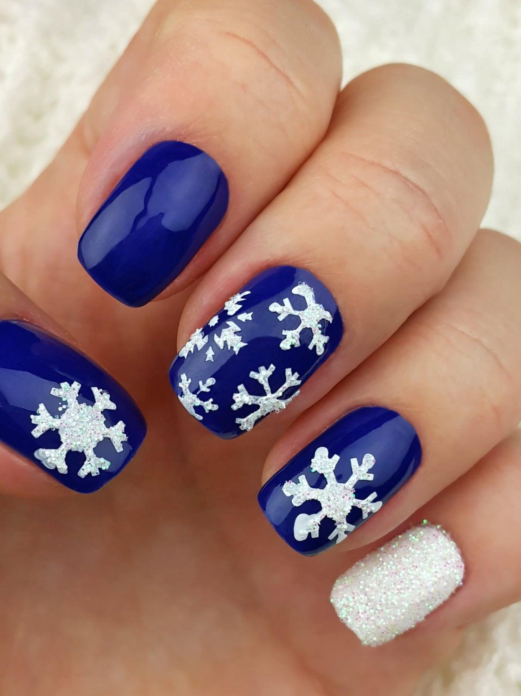 Snowflake Nail Art Stencils incredible nail art vinyls by