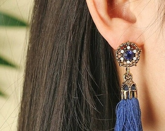 Tassel tassel earrings