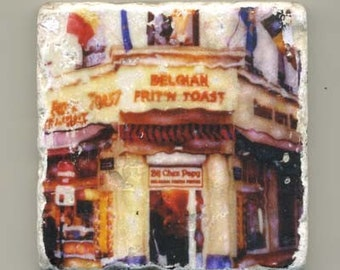 Belgian Frit N Toast -  Original Coaster
