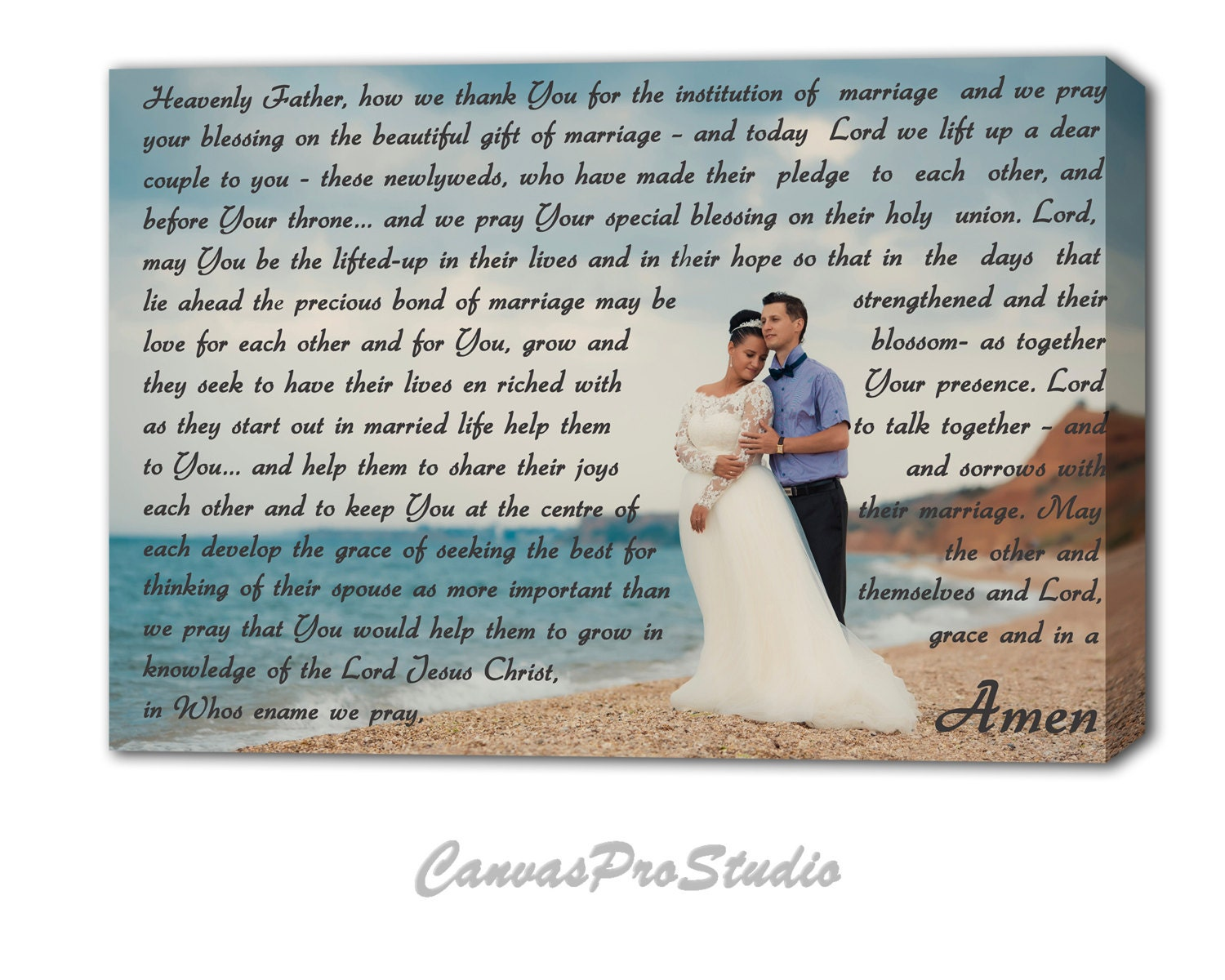 Prayer for a newly married couple on canvas custom canvas zoom kristyandbryce Image collections