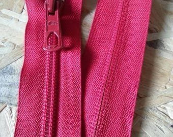 Not separable zipper red 50 cm