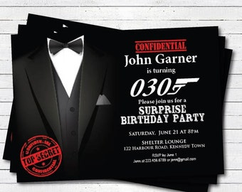 Surprise birthday invitation men guys too secret funny surprise birthday invitation man 30th surprise birthday invitation 30th 40th 50th 60th 70th birthday invite black tie gala ab048 filmwisefo