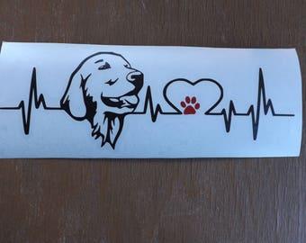 Golden Retriever Decal-dog lover gift-dog breed-gift for dog lover-dog stickers-dog decal-car decal- pet decal-gifts for dog lovers-dog gift