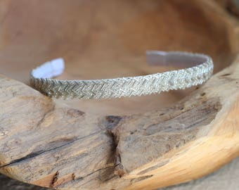 Silver Headband, Beaded Headband, Simple Headband for Women, Sparkly Headband, Formal Headband, Thin Headband, Skinny Headband