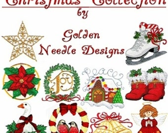 Christmas Collection- Machine Embroidery Designs