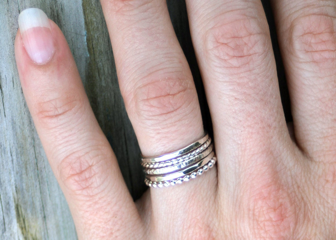stackable rings sterling silver stacking rings silver rings