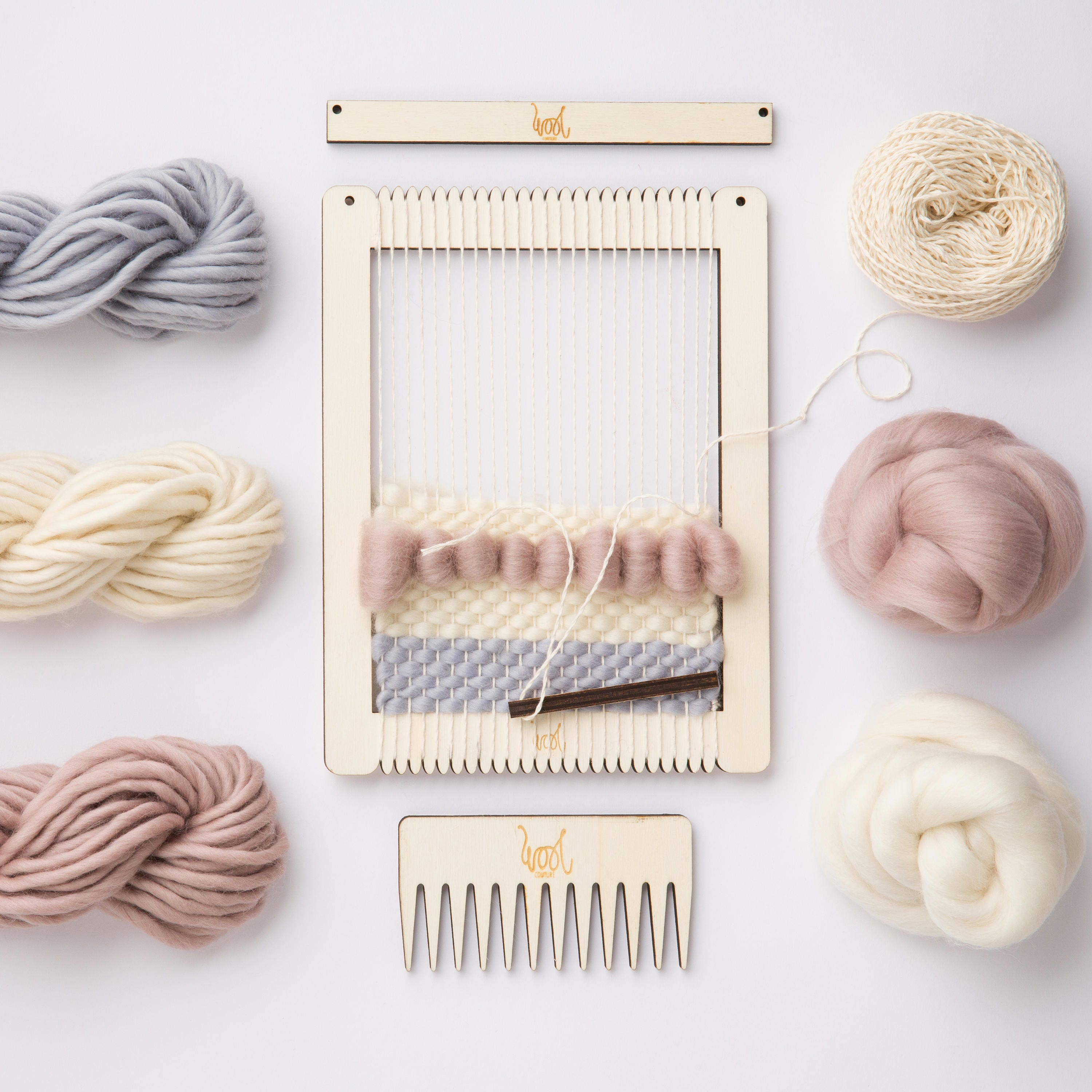 Weaving loom kit small rectangular lap loom learn to frame zoom jeuxipadfo Gallery