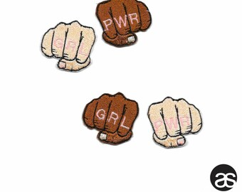 GRL PWR Fists Iron-on Patch