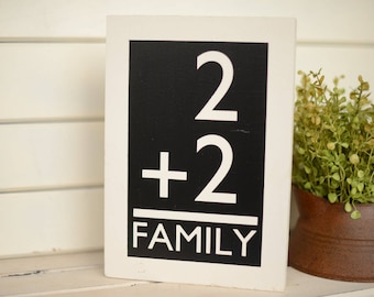 Gallery Wall Art - Gallery Art - Shabby Chic Decor - Gallery Sign - Gallery Wall - Wood Signs - Equals Family - Family Wall Art