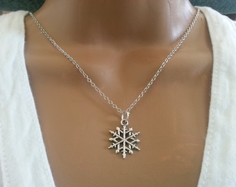 Antique silver Snow Flake Necklace