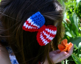 2 Styles Patriotic Hairbow / Headband / Red White and Blue / 4th of July