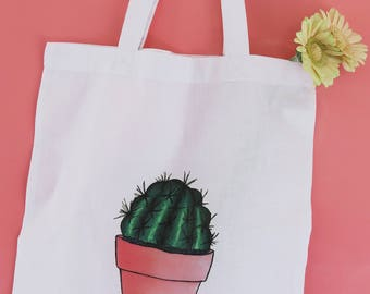 Tote Bag with Cactus