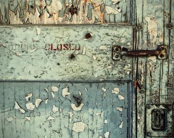 Door Photography | Dee Oregon | Abandoned | Industrial Chic | Rust | Peeling Paint | Closed | Photo Print
