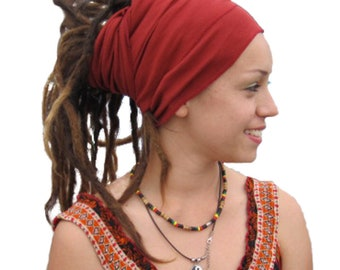 Wine Red Head Wrap % Cotton /Scarves/ Bandana