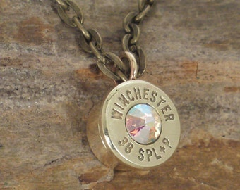 Winchester 38 SPL Necklace -  AB crystal