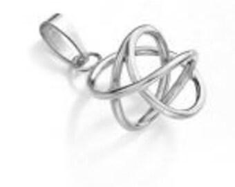 925 Silver pendants - unique jewelry gift for friendAkaija Bold (silver, Ø 2,2 cm)