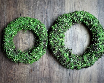 Angel hair vine & Artificial Moss Wreath-2 sizes available-Wedding wreath-Wall decor