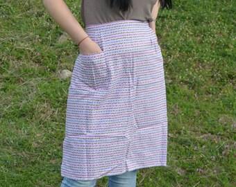 Vintage ladies apron - Woman's waist apron - Cotton apron - Kitchen apron - Flannel apron - Retro apron - NOS condition - Made in Bulgaria