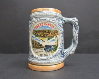 Vintage Blue Arizona Souvenir Stein (E9869)